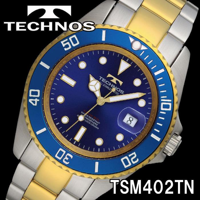TECHNOS 腕時計 メンズ ダイバーズウォッチ 10気圧防水 TSM402TN 画像1