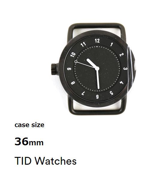 TID Watches(ティッドウォッチズ) No.1 Collection 文字盤 W500/36 Black ラウンドFACE・113944  #TIDWatches