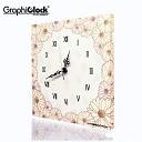 Flower Garden rabbit designer | wall clock | clock | clock | Homewares | fabric | clock | fashionable
