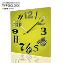 TYPO-CLOCK (タイポク rock) Designer | wall clock | clock | clock | Homewares | fabric | design | clock | fashionable | fabric-modern wall clock design with rich]