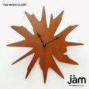 TAM WOOD CLOCK (tamwoodk rock) [design of rich wood modern wall clock] | designer | fashionable | clock | wall clock |