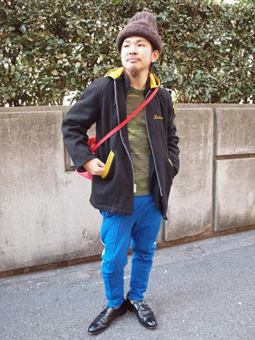2013年12月27日 キレイめスポーツスタイル 着こなし コーデ スナップ 古着