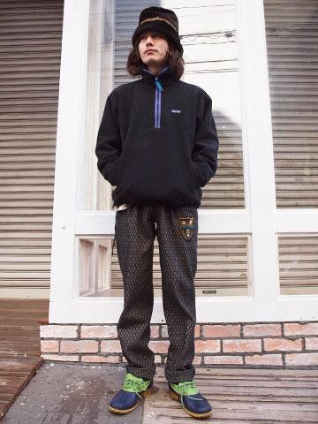 2014年1月19日 個性派フリーススタイル 着こなし コーデ スナップ 古着