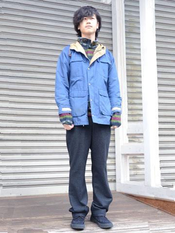 2014年2月11日 キレイめアウトドアスタイル 着こなし コーデ スナップ 古着
