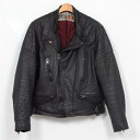 Real leather leather Wolf leathers semi-double ♪ wolf leather Ron Jean UK riders / size M/wea5216 ♪ #140324