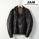 Vintage 60's vintage leather leather double Ray jacket mens L /wee1002 141130
