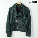 Double Ray jacket leather leather leather mens M MR. JOHN /wef0191 150201 n150101