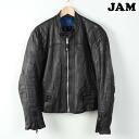 Leather leather sheepskinlongian single Ray jacket mens M /wef0201 150201
