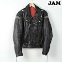 -70's mascot BLACK NIGHT rongen double Ray jacket mens L vintage Mascot /wef3212 150226