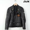 Rongen studded Harley-Davidson badge double Ray jacket mens M /wef3223 150228