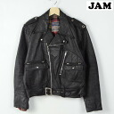 60-70's BRITISH CYCLE LETHERS-Canada D Pocket double Ray jacket mens M vintage /wef3369 150301.