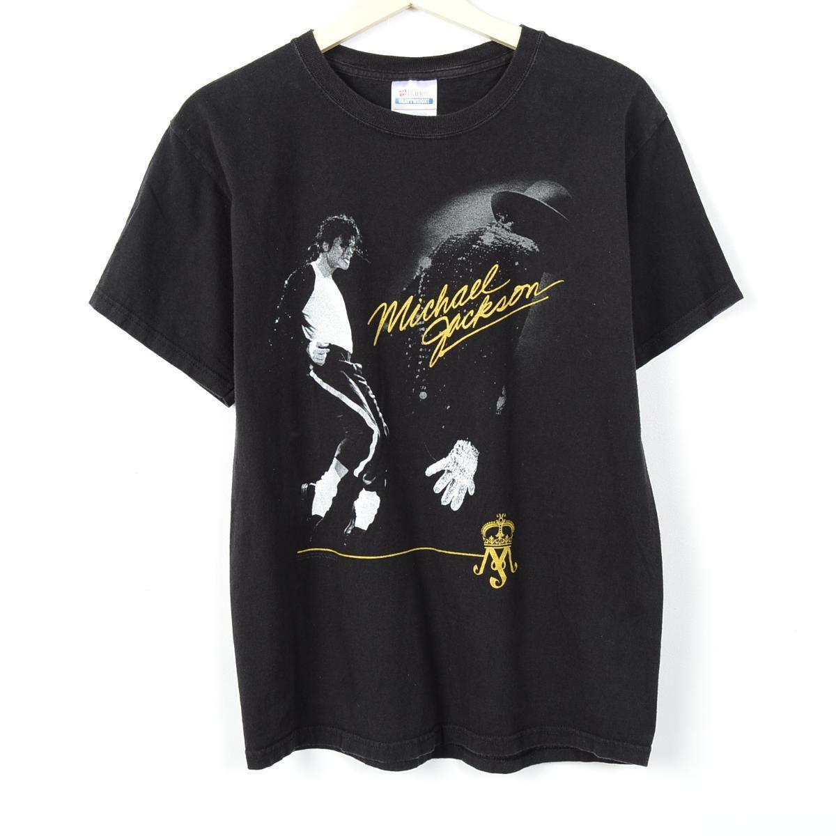 ヘインズ マイケル ジャクソン バンドTシャツ メンズM Hanes /weq1247 【古着屋JAM】【中古】 160418【532P19Apr16】
