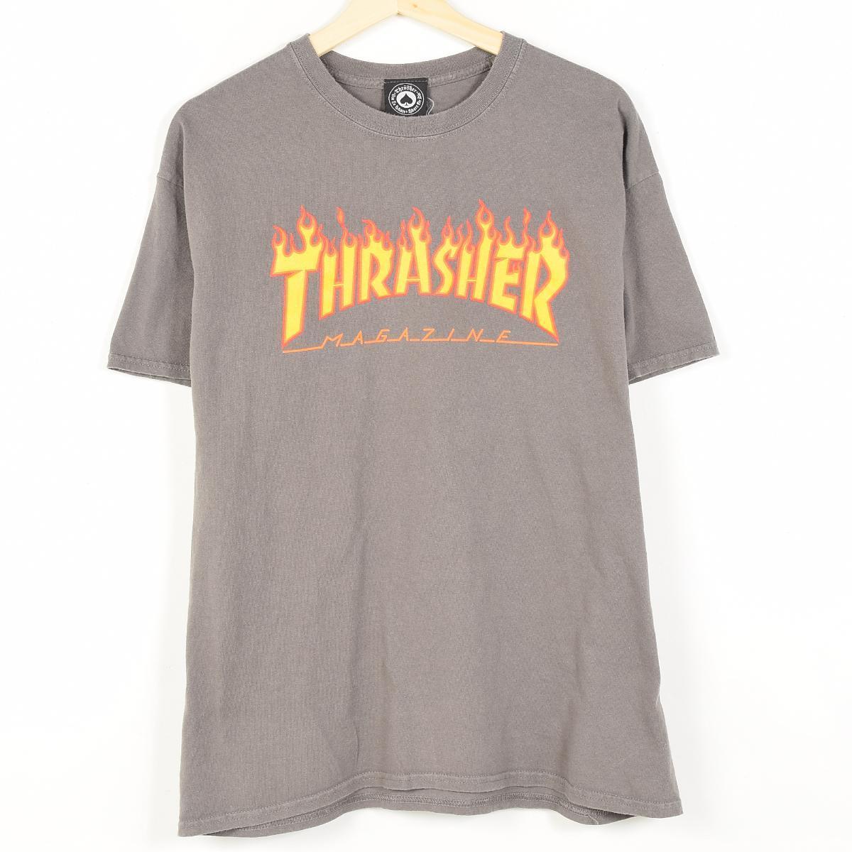 スラッシャー ファイヤーロゴ サーフ スケートTシャツ メンズL THRASHER /wep7745 【古着屋JAM】【中古】 160604