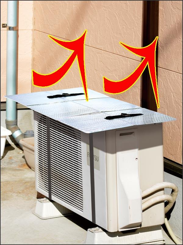 エアコン室外機用アルミ断熱・遮光パネル