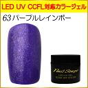 젤 네일 컬러 젤 LED UV 흡수 오프 5ml No.63 퍼플 레인 보우