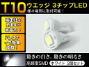 Two white sets mounted with 3 wedge ball wide-angle lens irradiation ▲ surprising brightness T10 1SMD tips