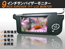 Latest; 9 inches of high-resolution ♪ sun visor monitor left side / right choice is possible