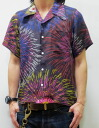 Satori flowers journey Music Orchestra ss403 washable Fireworks pattern Jacquard Weave silk fabric short-sleeved Hawaiian shirts limited production fs04gm point 02P05July14