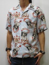 Dartisanjean 5281 picture pattern print short sleeve Aloha Japan made artisan workshop limited production point 05P13sep13