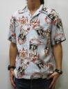 Dartisanjean 5281 picture pattern print short sleeve Aloha Japan made artisan workshop limited production point 05P13sep13