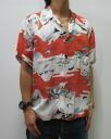 Hyakka ryoran 53133303 クルーラーズ Mt. Fuji, Dragon, crane silk Hawaiian shirts points 05P21Sep12