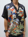 Hyakka ryoran 53133304 クルーラーズ treasure pattern silk Hawaiian shirts points 05P21Sep12