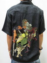 Hyakka ryoran 53133306 クルーラーズ Oni extermination silk Hawaiian shirts points 05P21Sep12