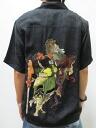 Hyakka ryoran 53133306 クルーラーズ Oni extermination silk Hawaiian shirts points 05P21Sep12
