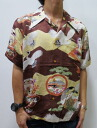 Hyakka ryoran 53133301 crullers crane pattern silk Hawaiian shirts points 05P21Sep12