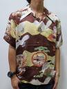 Hyakka ryoran 53133301 crullers crane pattern silk Hawaiian shirts points 05P21Sep12