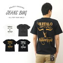 """BUFFALO"" JEANSBUG ORIGINAL PRINT T-SHIRT original buffalo American casual print short sleeves T-shirt Indian native is American"