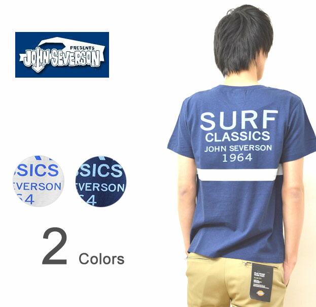 JOHN SEVERSON(ジョンセバーソン) 『SURF CLASSICS』 半袖 ポケットTシャツ ボーダー柄 カットソー バックプリント サーフ サーファー SUNSURF サンサーフ 【JS76254】