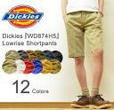 Dickies (디 키즈) Lowrise Shortpants ローライズショートパンツ 쇼 빵 하프 팬츠 작업 바지 치 노 팬츠