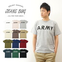 """ARMY JEANSBUG ORIGINAL PRINT T-SHIRT オリジナルアーミー military print short sleeve T shirt USA Army military"