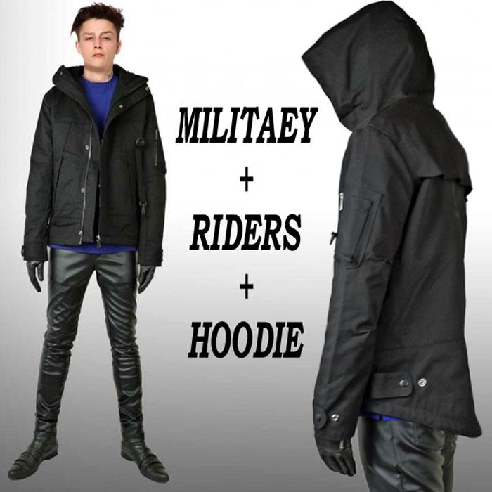 ミリタリーコート モード ジャケット ブルゾン コート メンズコート ハーフコート...