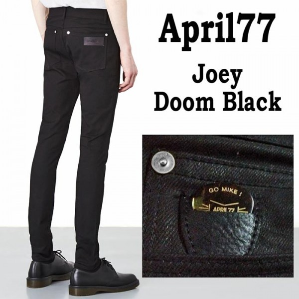 April77-joey-doom-black(エイプリル77 ドーム ブラック)ブラックデニム スキニー...