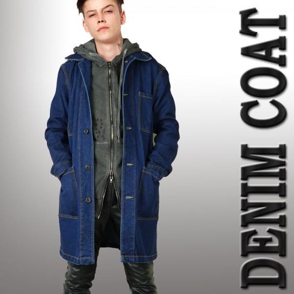 デニムコート インディゴ カバーオール メンズコート パンク ロック ファッション ...