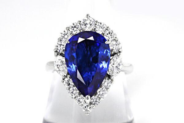 钻石坦桑石戒指