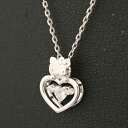 Hello Kitty ZIRCONIA open heart Pendant (zirconia) Kitty-Chan accessories gift gift wrapping 10P21May14