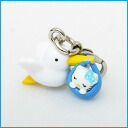 Stork Kitty fastener mascot (blue) strap ◆ character-limited collaboration accessories. It is lapping fs3gm the limited goods which are most suitable for a present on Kitty accessories present gift Christmas