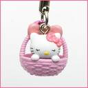 Stork Kitty netsuke (cart) strap ◆ anime Limited Edition collaboration with accessories. Limited edition presents a great toy! Kitty-Chan accessories gifts gift Christmas wrapping fs3gm