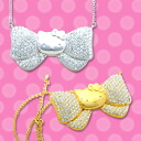 Hello Kitty × tinkpink キラキラリボンペンダントネックレス: think pink Hello Kitty HELLO KITTY: Hello Kitty accessories gifts gift Christmas wrapping