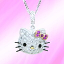 Hello Kitty Hello KittyWhite Gold Pendant white gold pendant necklace Kitty baby accessories gifts gift Christmas wrapping fs3gm