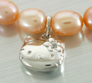 925 silver lake pearl diamond Kitty necklaces