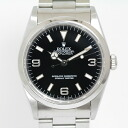 Finish 14270 Rolex Explorer 1W turn (product made in 94) black self-winding watch OH, polishing; beautiful article fs3gm