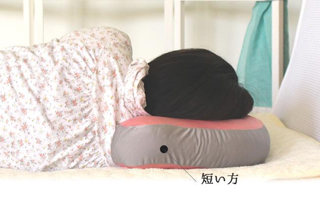 横向きで眠ったときのイメージ
