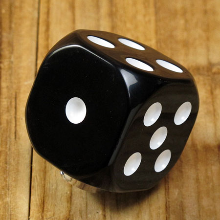 シフトノブ ダイス(サイコロ) ブラック1
