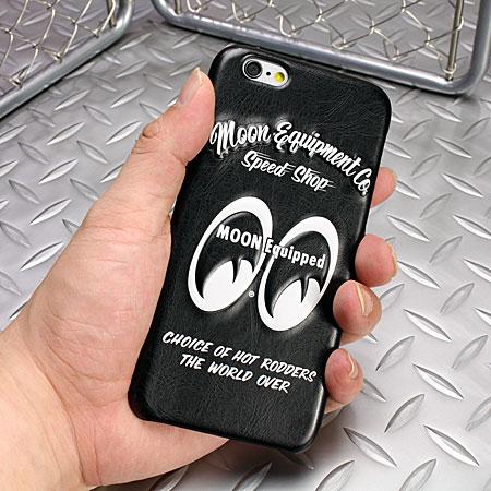 ムーンアイズ iPhone6/6Sケース(カバー) MOONEYES レザー製 3Dジャケットの使用例