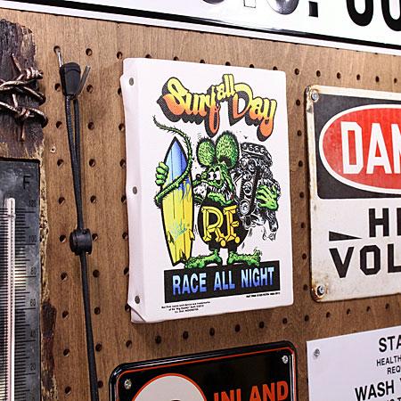 ��åȥե��� �ݥ����� �����Х��ѥͥ� Rat Fink SURF ALL DAY ������S�λ�����