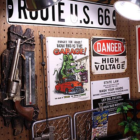 ラットフィンク ポスター キャンバスパネル Rat Fink GARAGE サイズMの使用例